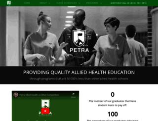 petraalliedhealth.com screenshot