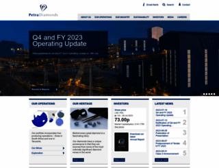 petradiamonds.com screenshot