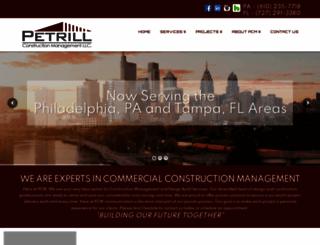 petrillconst.com screenshot