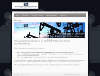 petroleumregimesadvisory.com screenshot