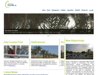 petromasila.com screenshot