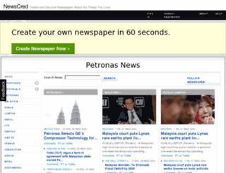 petronas.newscred.com screenshot