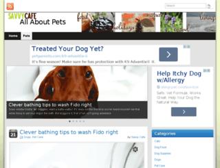 pets.savvy-cafe.com screenshot
