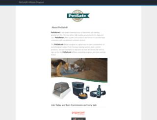 petsafe.affiliatetechnology.com screenshot
