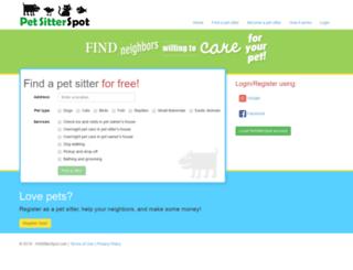 petsitterspot.com screenshot