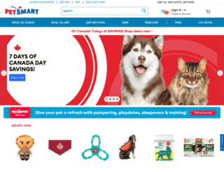 petsmart.ca screenshot