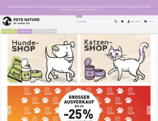 petsnature.de screenshot