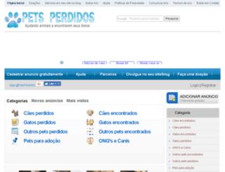 petsperdidos.com.br screenshot