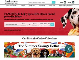 petspyjamas.com screenshot