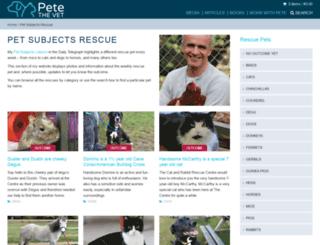 petsubjectsrescue.petethevet.com screenshot