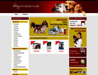 petsuppliesnet.com screenshot