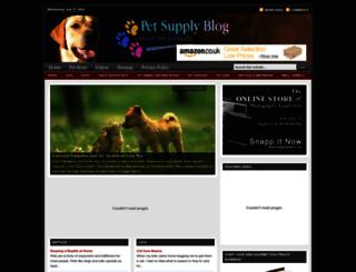 petsupplyblog.com screenshot