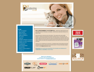 petsystems.co.za screenshot