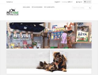 petvine.co.uk screenshot