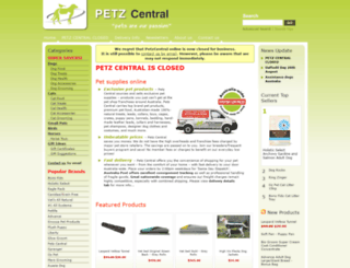 petzcentral.com.au screenshot