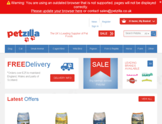 petzilla.co.uk screenshot