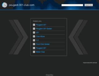 peugeot-301-club.com screenshot