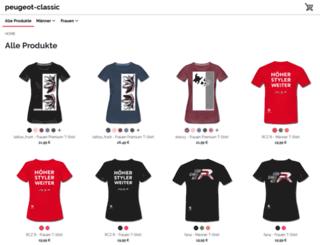 peugeot-classic.spreadshirt.de screenshot