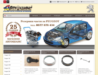 peugeot.avtoshans.com screenshot