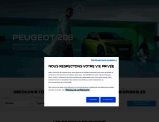 peugeot.ch screenshot