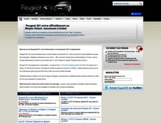 peugeot301.fr screenshot