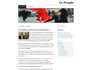peuple.wordpress.com screenshot