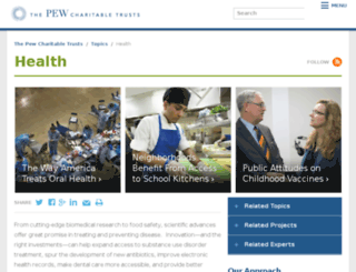 pewhealth.org screenshot