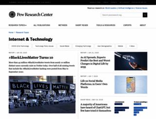pewinternet.org screenshot