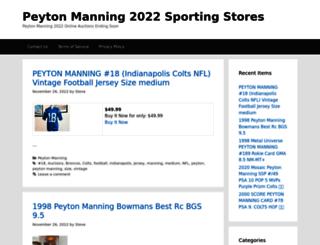 peytonmanning.sportingstores.net screenshot