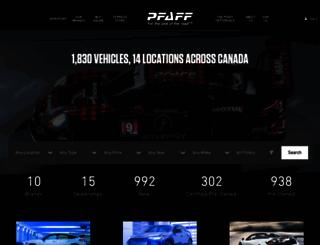 pfaffauto.com screenshot
