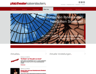 pfalztheater.de screenshot
