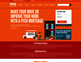 pfcu.com screenshot