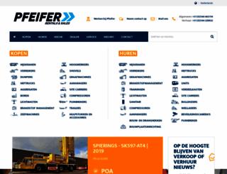 pfeiferheavymachinery.com screenshot