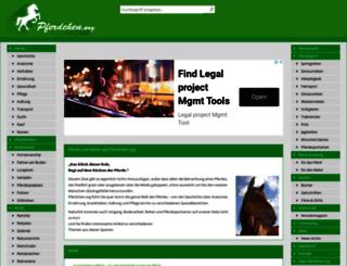 pferdchen.org screenshot