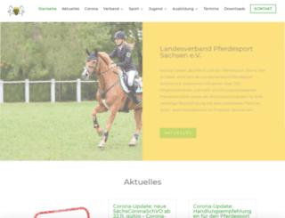 pferdesport-sachsen.de screenshot