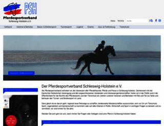 pferdesportverband-sh.de screenshot