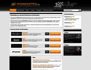 pferdewetten.org screenshot
