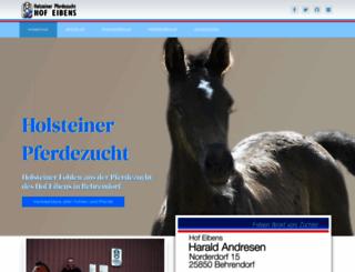pferdezucht-holsteiner.de screenshot