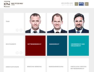 pfitzer-law.de screenshot