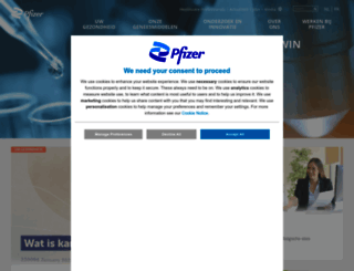pfizer.be screenshot