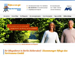 pflege-eisenmenger.de screenshot