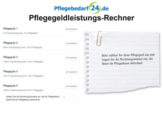 pflegegeldrechner.com screenshot
