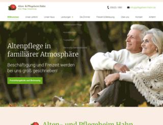 pflegeheim-hahn.de screenshot
