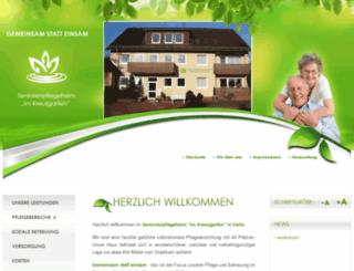 pflegeheim-kreuzgarten.de screenshot