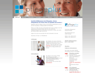 pflegeplus-solingen.de screenshot