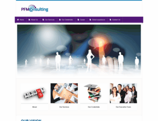 pfmconsulting.org screenshot