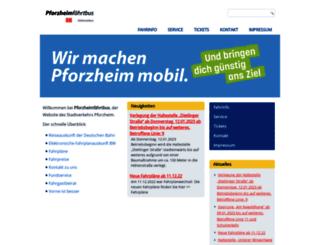 pforzheimfaehrtbus.de screenshot
