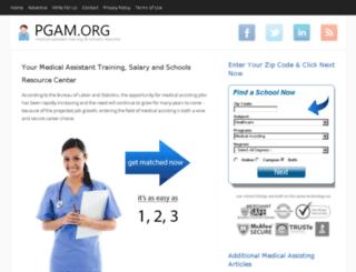 pgam.org screenshot