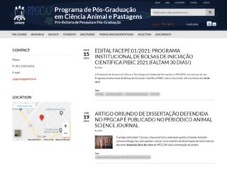 pgcap.ufrpe.br screenshot