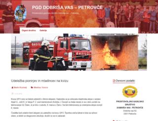 pgd-petrovce.si screenshot